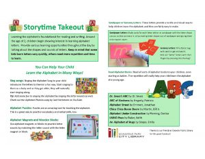 ABCs Storytime Takeout