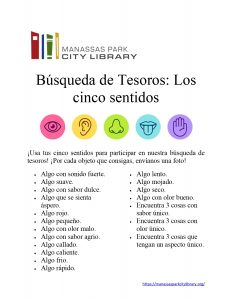 Five Senses Scavenger Hunt - Spanish
