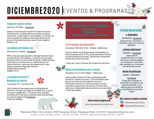 December 2020 Events & Programs Descriptions - Espanol
