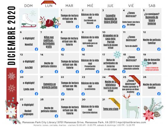 December 2020 Events & Programs Calendar - Espanol
