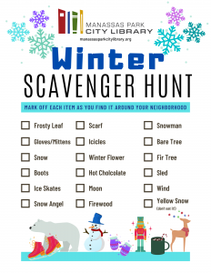 Winter Scavenger Hunt - English