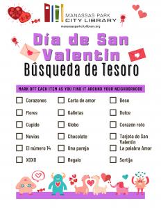 Dia de San Valentin Busqueda de Tesoro