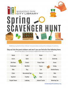Spring Scavenger Hunt - English