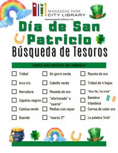 St. Patrick's Day Scavenger Hunt - Espanol