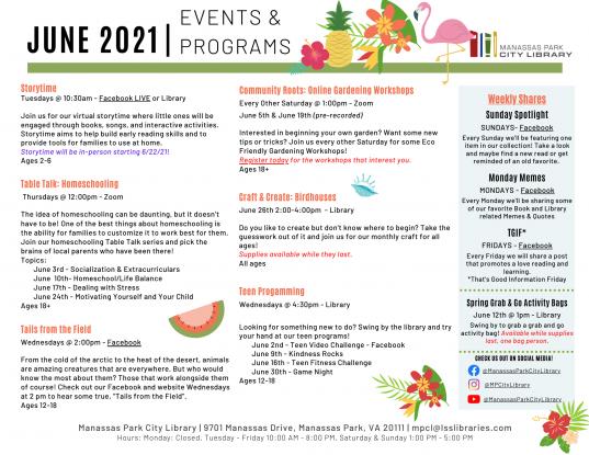 June 2021 Event Descriptions