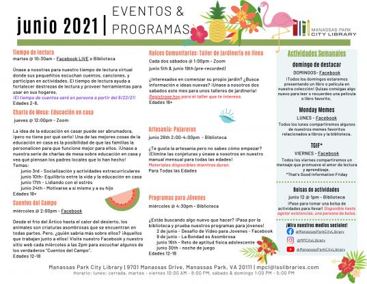 June 2021 Event Descriptions - ES