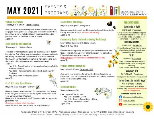 May 2021 Event Descriptions - EN