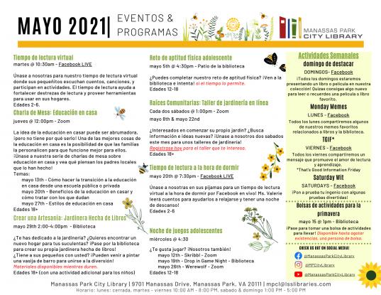 May 2021 Event Descriptions - ES