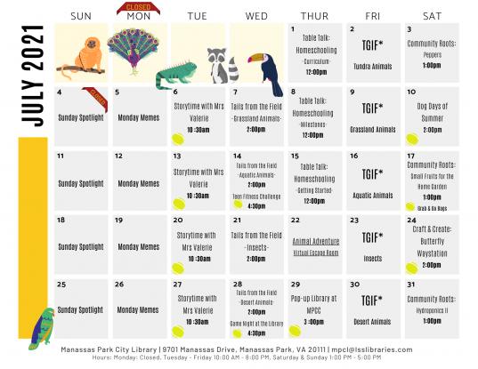 July 2021 Calendar - EN