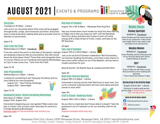 August 2021 Event Descriptions - EN