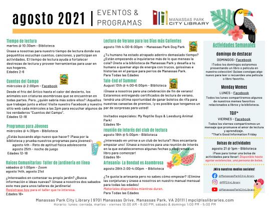 August 2021 Event Descriptions - ES