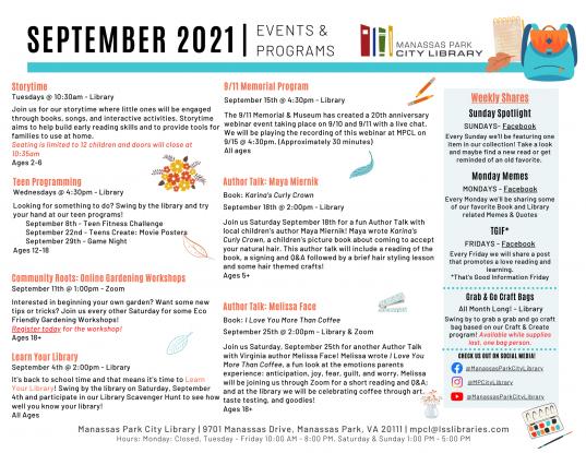 September 2021 Event Descriptions - EN