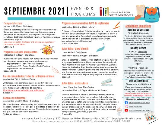 September 2021 Event Descriptions - ES